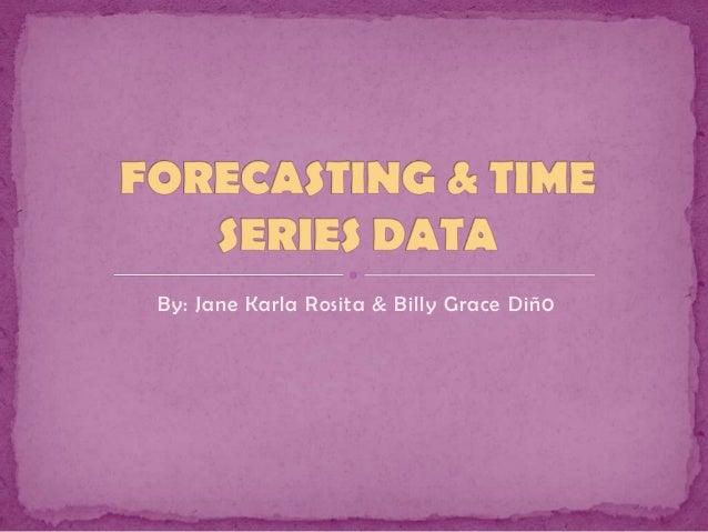 Forecasting & time series data