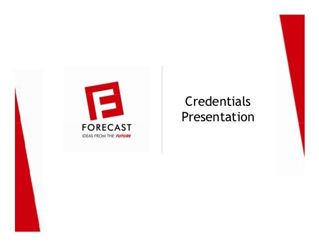 Forecast Advertising, Mumbai: Credentials Presentation