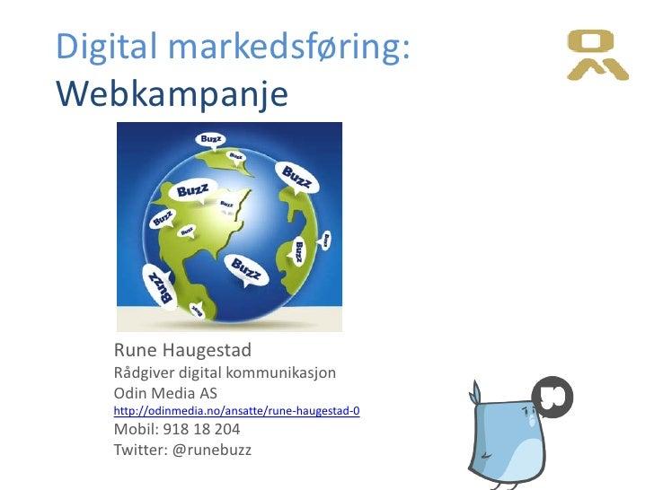 Digital marketing & web campaigns