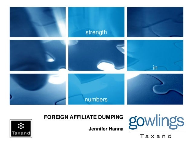 Foreign Affiliate Dumping
