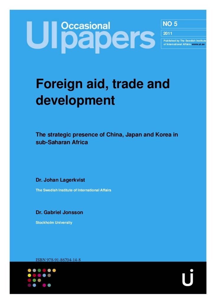 Foreign aid trade and development form the SIIA