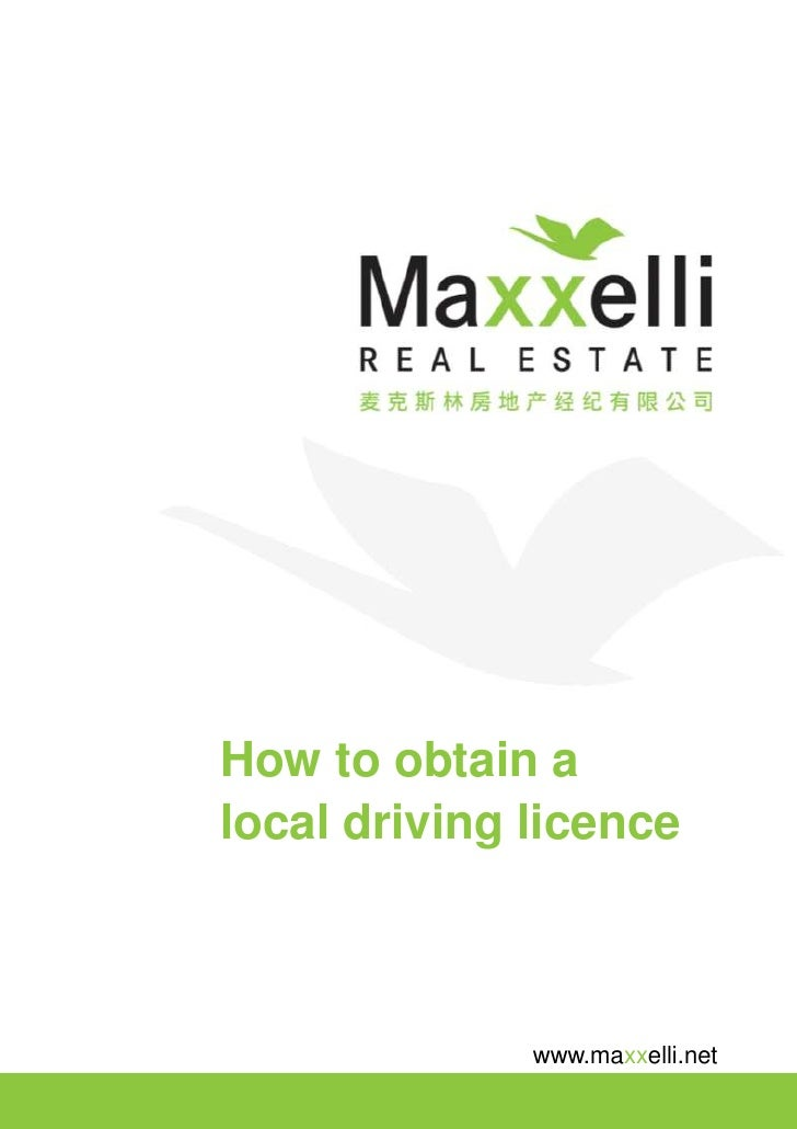 How to obtain a local driving licence                  www.maxxelli.net