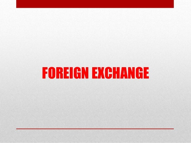 Forex market in india ppt