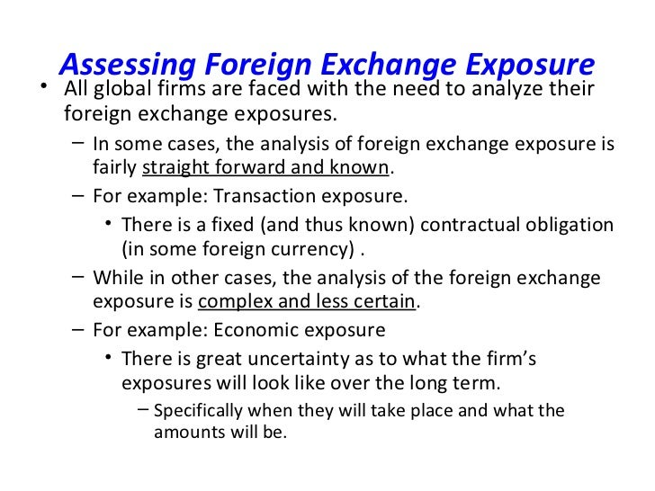 Forex exposure ppt