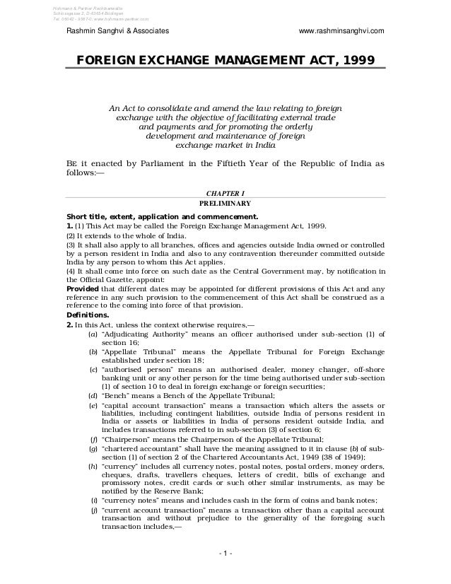 Foreign exchange management_act-1999