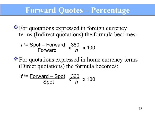 direct and indirect quotes in forex market
