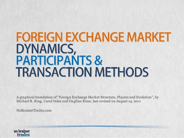 Participants of foreign exchange market