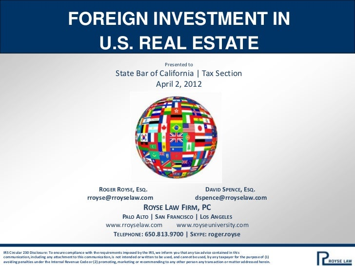 foreign investments in u s real estate Foreign investment in us real estate rising china was the top country of origin in both buying and selling commercial real estate in 2016, and florida was the top.