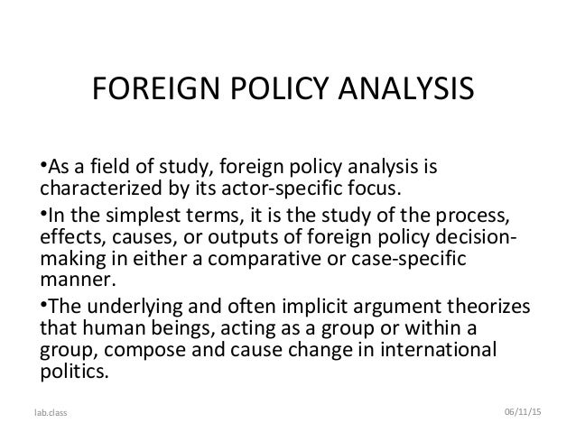 Write my foreign policy essay