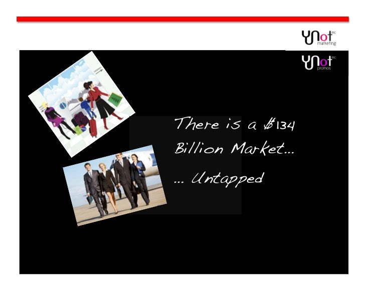 There is a $134Billion Market…… Untapped