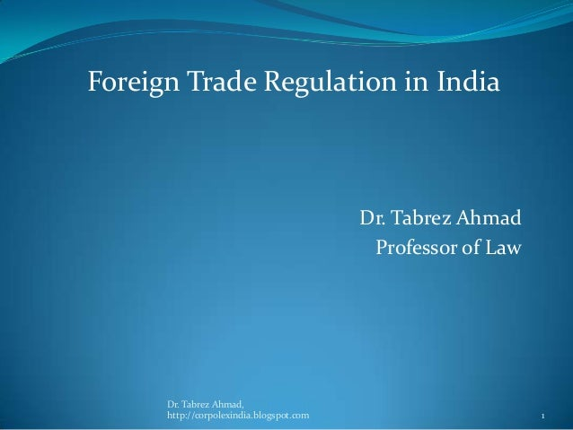 Foreign trade regulation