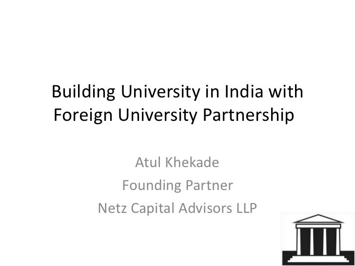 Foreign university partnership in india