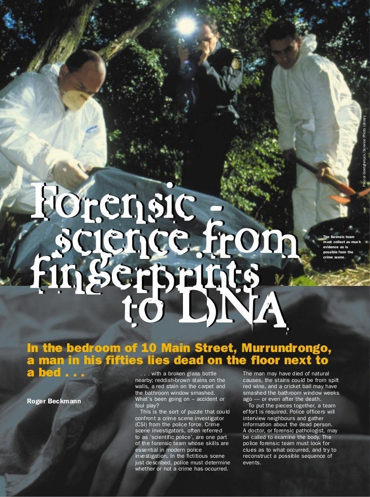 Forensic science%20from%20fingerprints%20to%20 dna