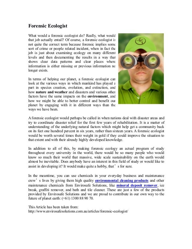 Forensic ecologist