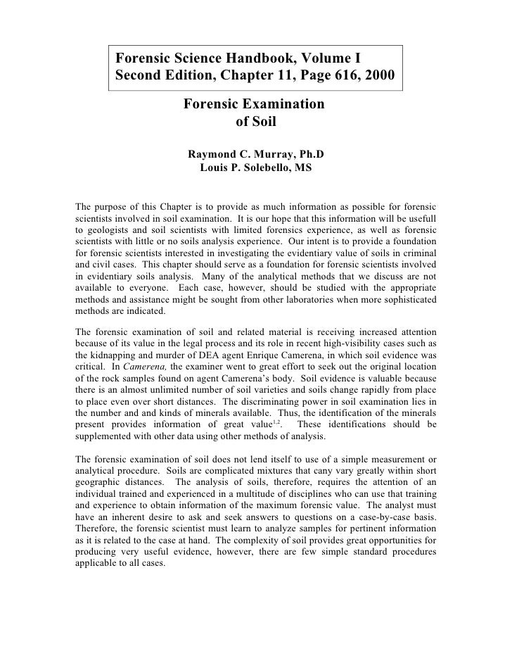 Forensic Science Handbook, Volume I           Second Edition, Chapter 11, Page 616, 2000                             Foren...