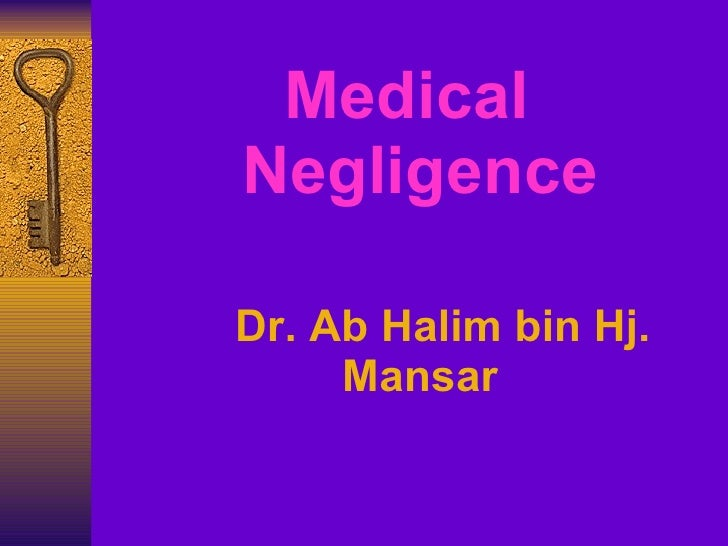 Forensic medicine medical negligence