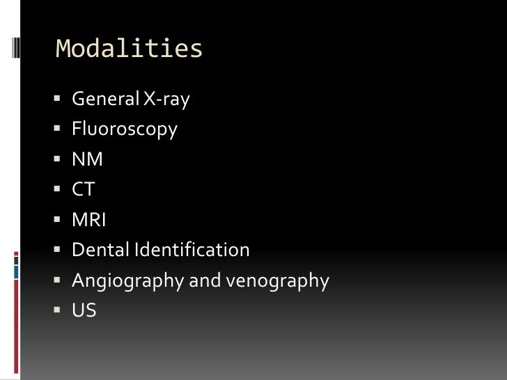 forensic radiology Abstract imaging techniques are a powerful tool in forensic science  some of  the main issues that might be encountered in forensic radiology are discussed in.