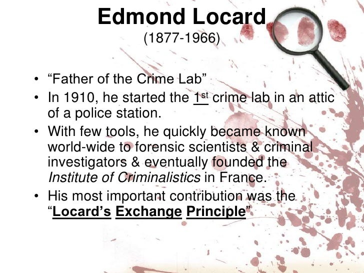 the crime scene is most important area of forensic science In the world of criminal law truth is the gold standard who doesn't want a   forensic science physical evidence is very important in forensic.