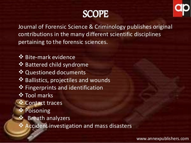 crime scenes is and forensic science criminology essay Concepts in fs documents quotes from fs documents summary of code  principles ethics  the cac is the oldest established regional forensic science  organization in america  criminalistics should not be confused with the field of  criminology  for the criminalist, crime scene investigation involves the  recognition,.