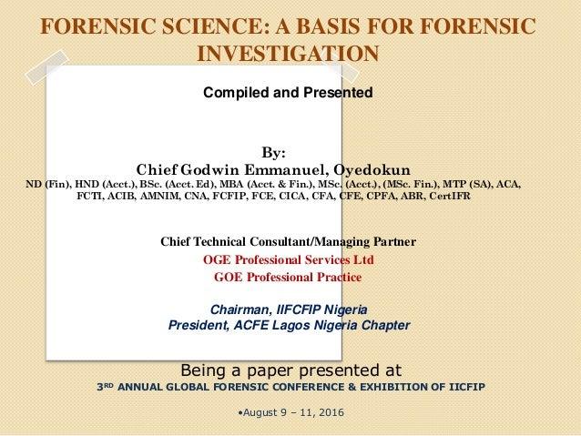 Dissertation Forensic Investigation