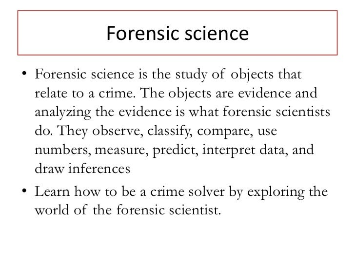 forensic science module five The fepac is a standing committee of the aafs with a membership that includes five educators, five forensic 9:30 am module 2: forensic science in.