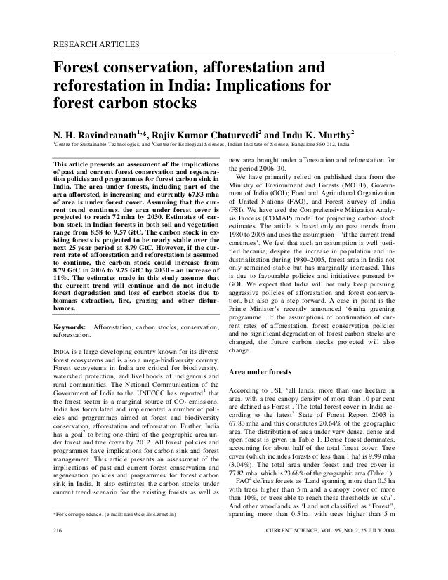 RESEARCH ARTICLES CURRENT SCIENCE, VOL. 95, NO. 2, 25 JULY 2008216 *For correspondence. (e-mail: ravi@ces.iisc.ernet.in) F...