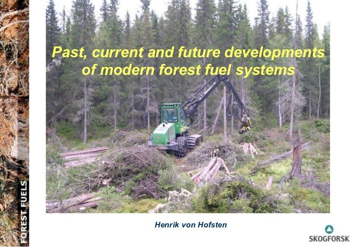 Past, current and future developments of modern forest fuel systems