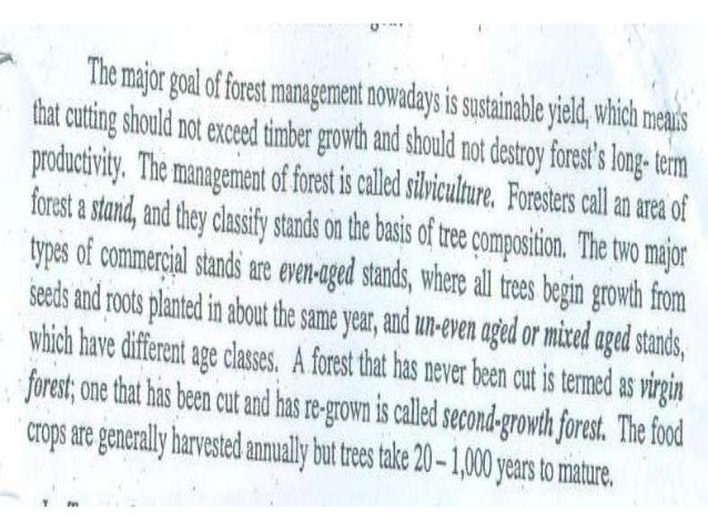 Forest management BY Muhammad Fahad Ansari  12IEEM14