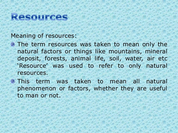Forest resource for Soil resources definition