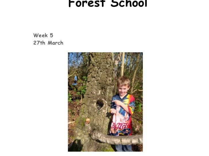 Forest SchoolWeek 527th March
