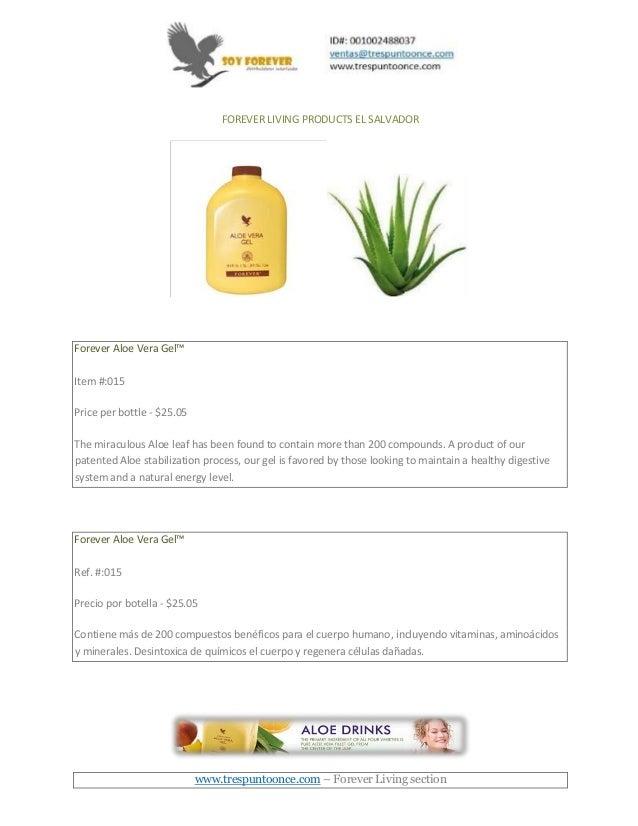 Forever living products el salvador pdf