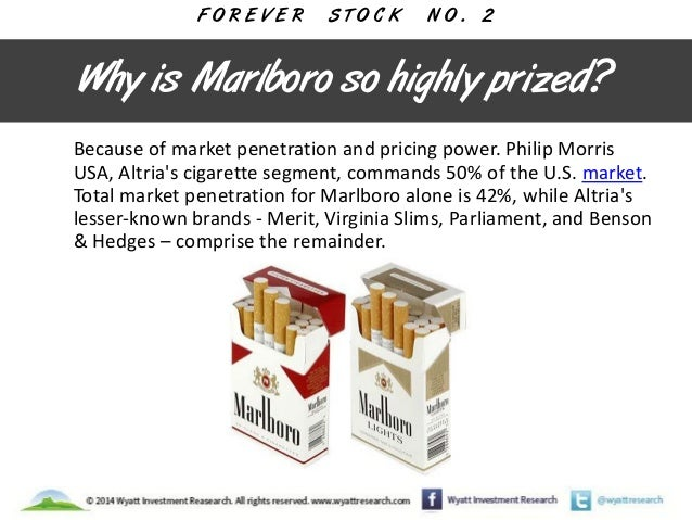 Brands of menthol cigarettes Marlboro in USA