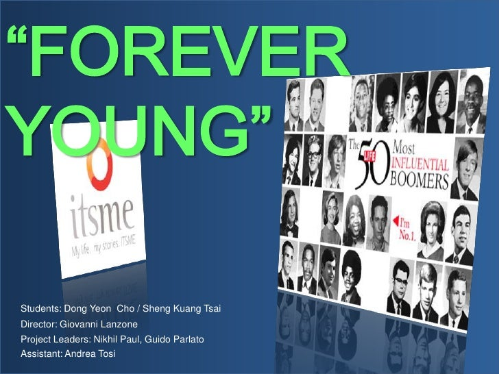 """""""FOREVER YOUNG""""  Students: Dong Yeon Cho / Sheng Kuang Tsai Director: Giovanni Lanzone Project Leaders: Nikhil Paul, Guido..."""