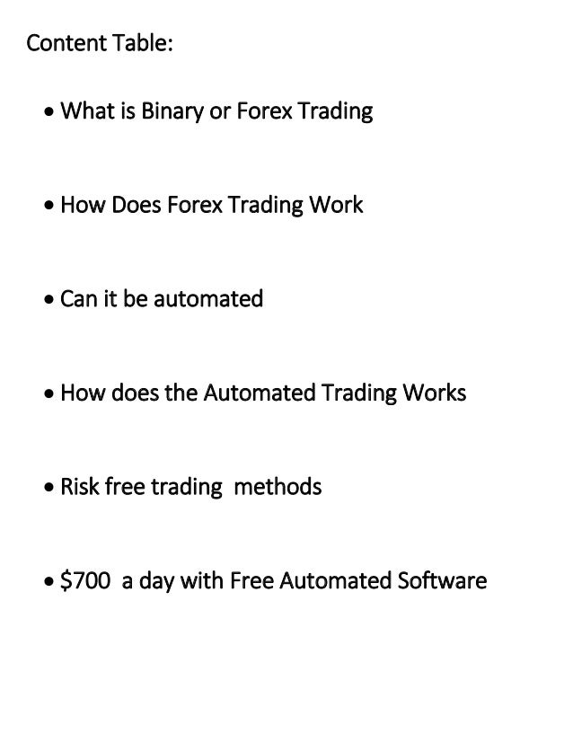 What is binary trading in forex