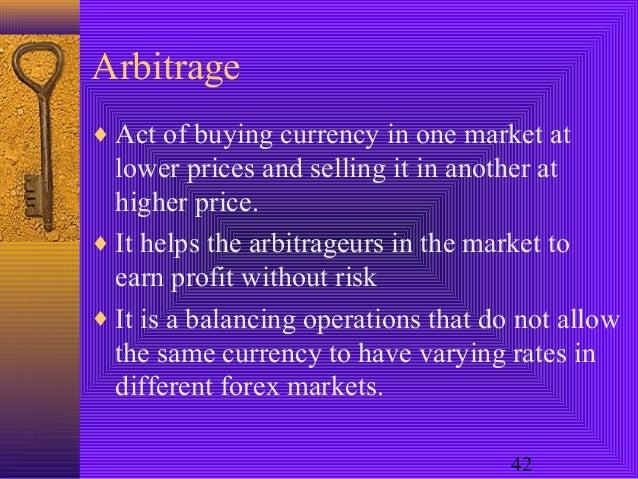 Types of arbitrage in forex market