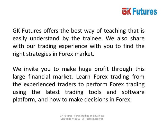 Trainee forex & commodities traders