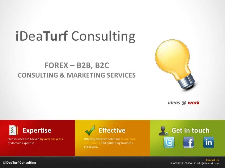 Forex B2B, B2C Consulting Services