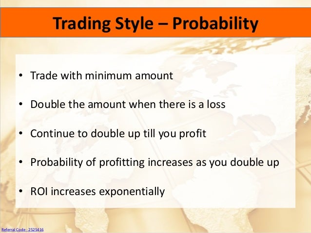 Double profit binary options