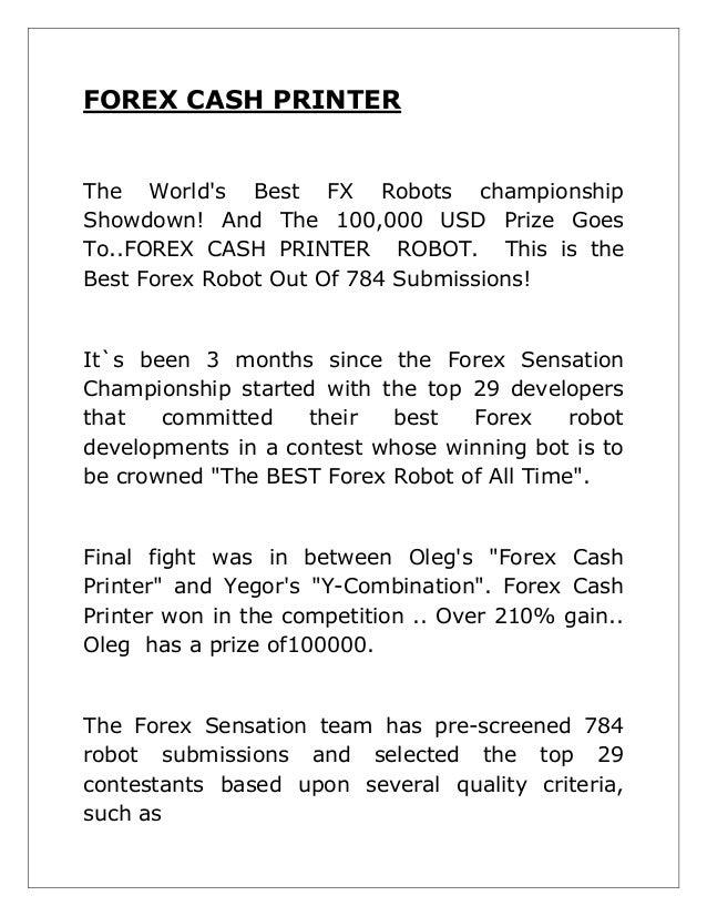 Cash printer forex