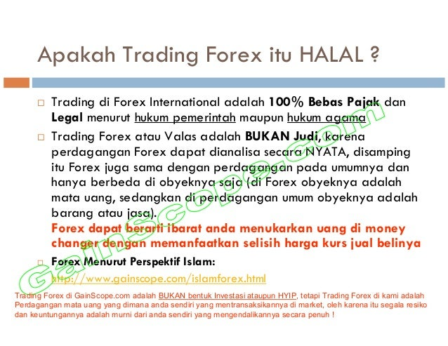 Is online forex trading allowed in islam