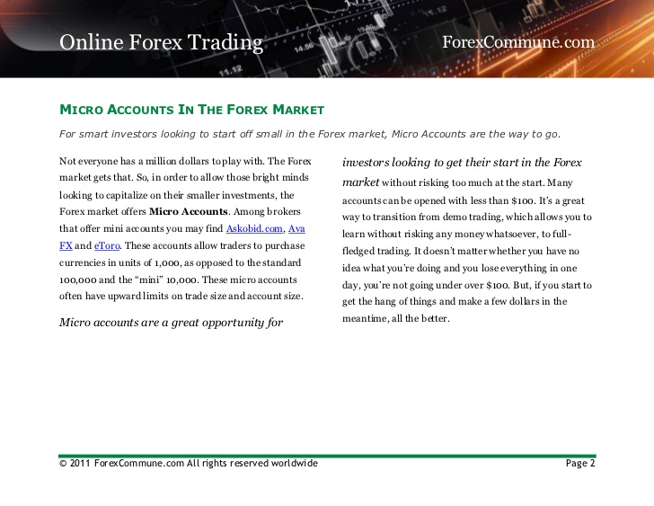 Free $50 to Open FXCM Micro Forex Trading Account | DailyFX