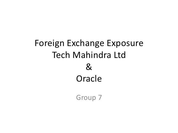 Forex exposure for Tech M & Oracle