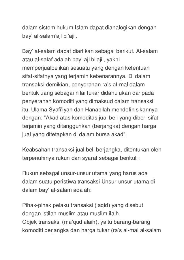 Forex menurut hukum islam