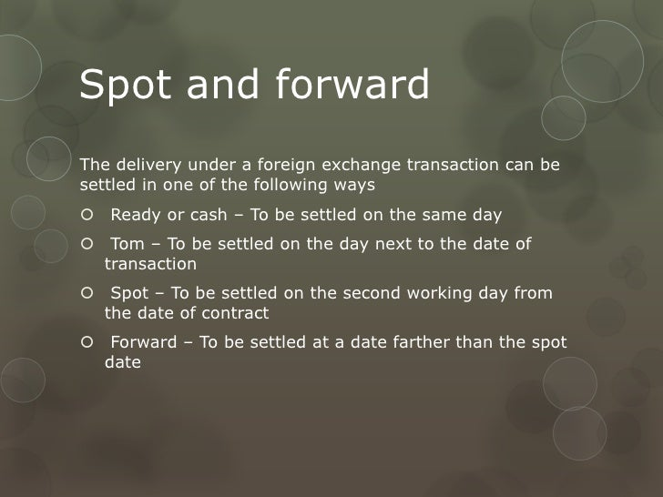 Types of forex transactions ppt
