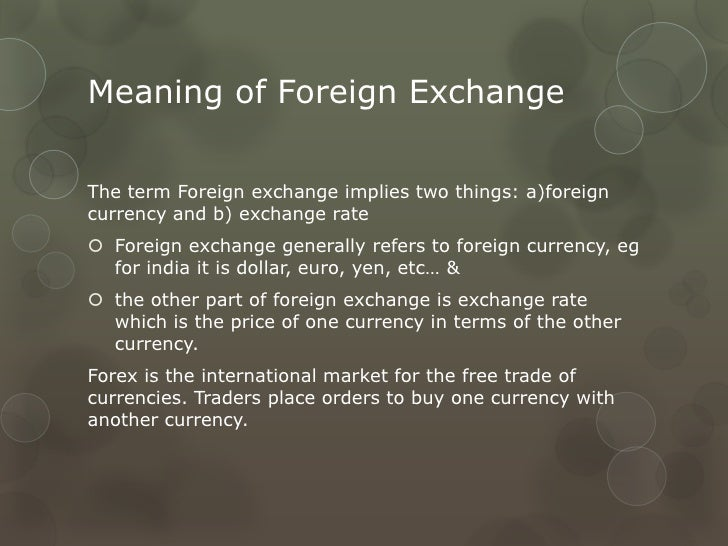 Features of forex market
