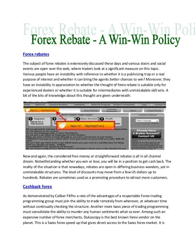 Best forex rebate program