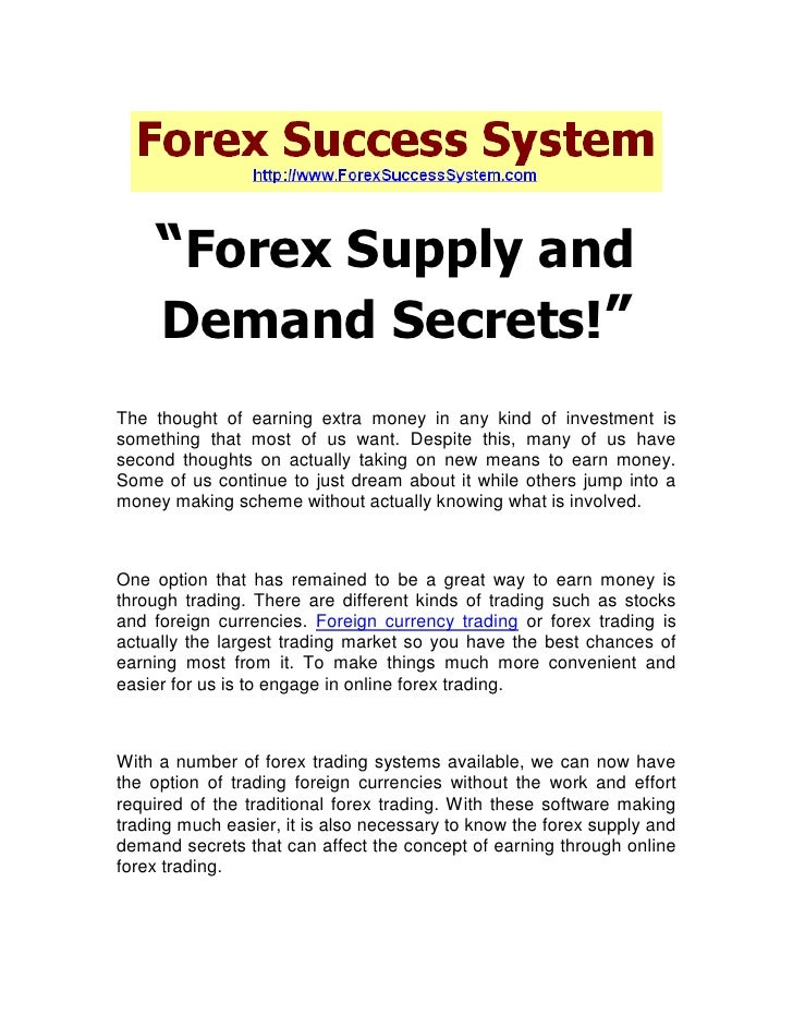 Forex supply and demand book
