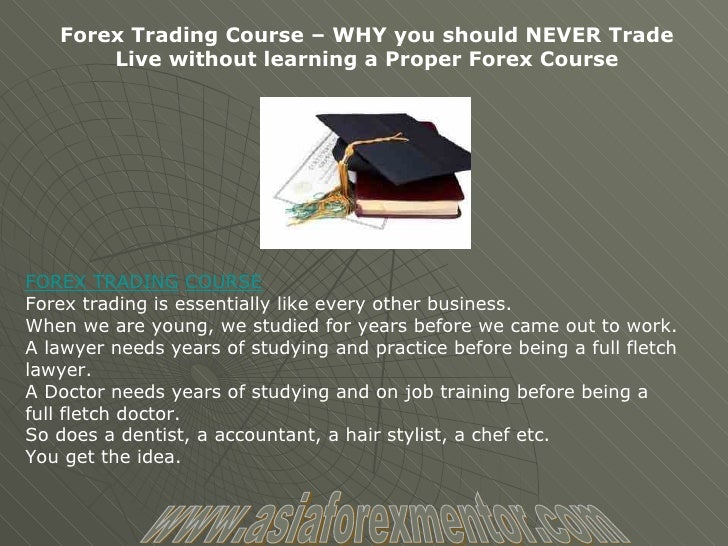 best course forex learn trading