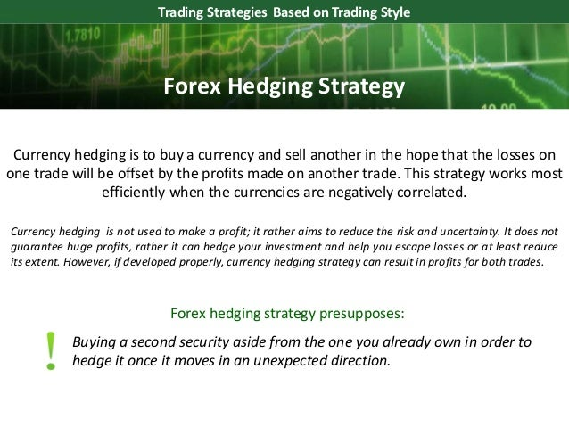 Forex hedging strategy protection against losses