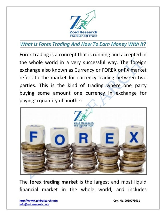 ... by Arnold Gates on How to make money from forex trading | Pintere